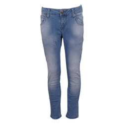 Jeans i lys denim med straight fit fra Hound - 2180421-822-LIGHT-USED